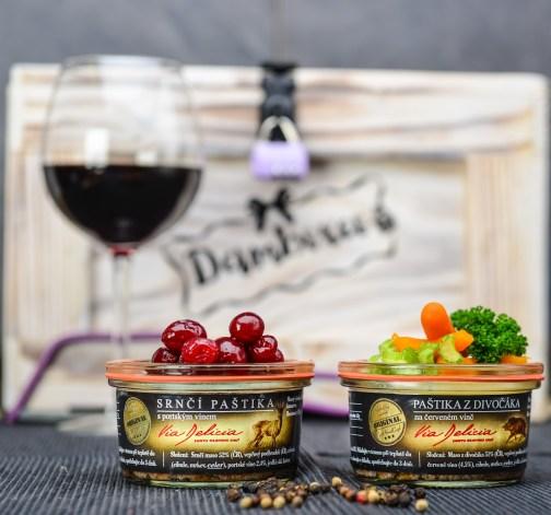 Srnčí paštika s portským vínem, Paštika z divočáka na červeném víně